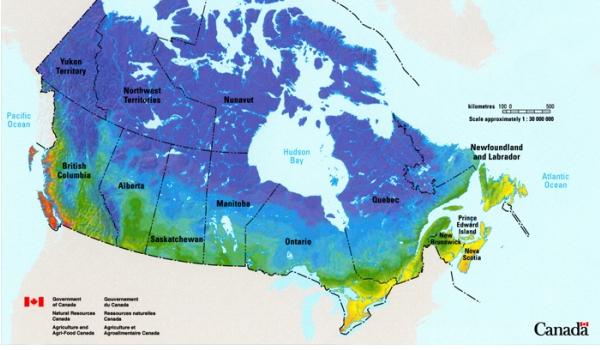 آب و هوا در کانادا